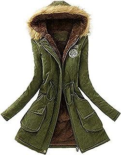 precio especial para nueva lanzamiento sitio autorizado Amazon.es: Parkas Mujer verde militar con capucha pelo