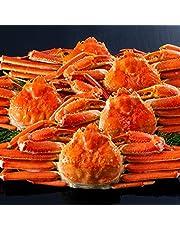 ボイル ズワイガニ 【 笑顔の食卓 匠 】 北海道紋別浜茹で ずわいがに姿 3㎏超(4~5杯)