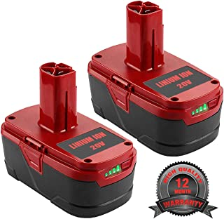 2Pack 5.0Ah 19.2V Replace for Craftsman Battery, Battery for Craftsman C3 XCP Craftsman 130279005 1323903 130211004 11375 11045 315.115410 315.11485 Cordless Power Tool