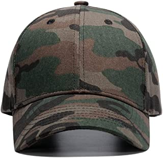 WUKE Tactical Cap, Adult/Unisex Camouflage Cap with Embroidery Curved Brim, Outdoor Recreation