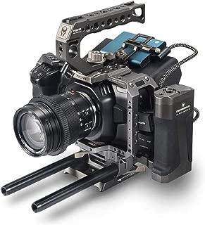 Tilta BMPCC 6K 4K Cage TA-T01-A-G Full Cage SSD Drive Holder Top Handle Wooden Side Handle for BlackMagic Pocket BMPCC 4K 6K Camera (Tactical Kit)