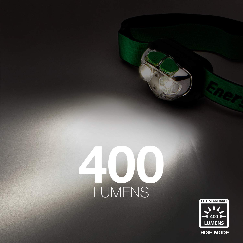 ENERGIZER VISION HD FOCUS HEADLAMP 400 LUMENS GREY 3 AAA BATTERIES LED NEW