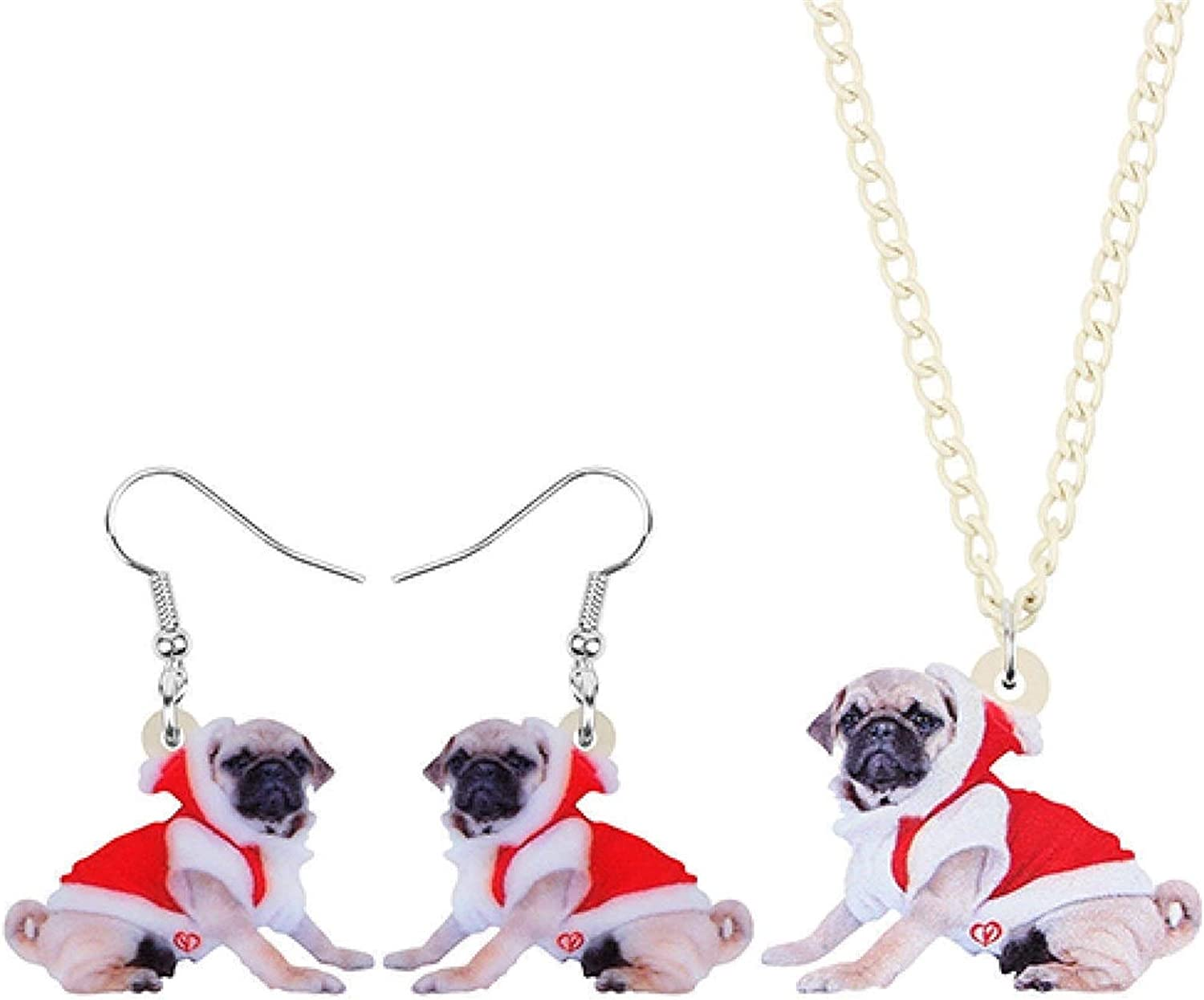 SYXYSM Shoes Acrylic Christmas Costume Sets E Max 40% OFF Animal Dog Super special price Jewelry