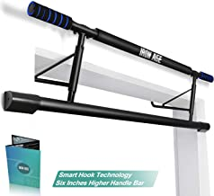 Iron Age Pull Up Bar Doorway US Invention Patent with Smart Hook Technology