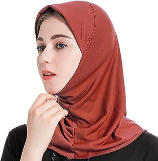 ❤️ ATTIQA Hijab deportivo para mujeres musulmanas con velo Atletas de fitness y cardio Velo bufanda turbante pashmina gorro chal abaya isl/ámico hiyab Dri-FIT El/ástico Talla /Única Azul marino