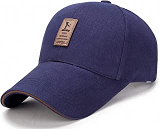 3fdd007eede34a Ulalaza Cotton Adjustable Baseball Cap Dad Hat with Velcro Adult Unisex  Women Men Multicolor