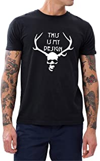 Mens This is My Design T-Shirts Men Hannibal Tee