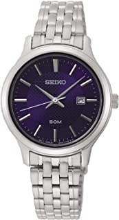 Seiko neo classic Mens Analog Quartz Watch with Stainless Steel bracelet SUR651P1