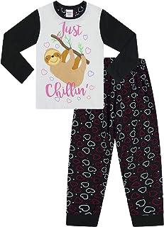 The PyjamaFactory Cool Eat Sleep Dance Repeat Star Pigiama Lungo per Bambine da 8 a 14 Anni