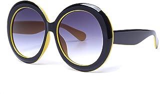 Lunettes de soleil grand cadre en forme ronde hommes femmes personnalité personnalité de la mode style style lunettes de s...