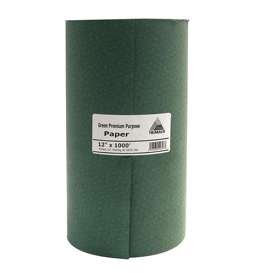 Trimaco 12307/GL12 Green Premium Masking Paper, 12-inch x 1000-feet