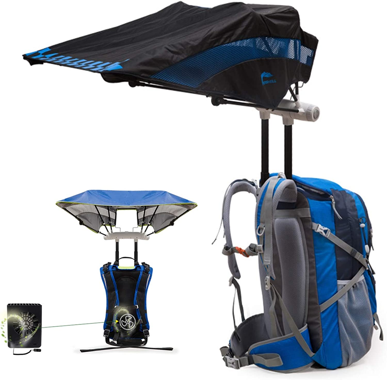 184ec3c0c204 40L Outdoor Backpack Parasol with Cooling Fan for Quick Disassembly ...