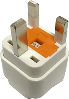 Travel Adapter for UAE/KSA/UK/HK, Plug for US/AU/JP/CN Electronic Appliance Adapt to UK 3 Pins Outlet with Eaton Bussmann Fuse
