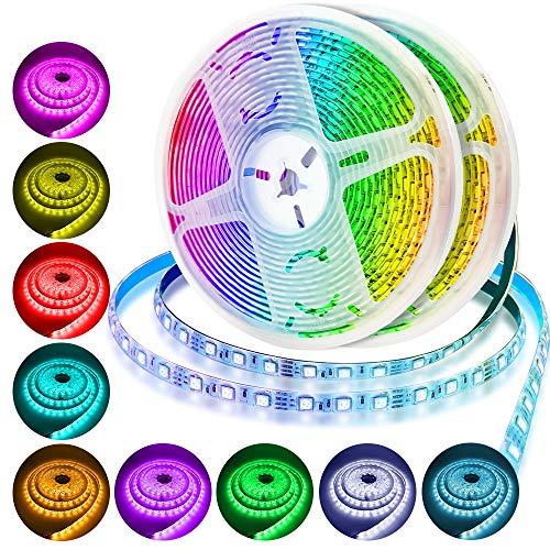 ARREDI LED Striscia LED RGB, Strisce LED 10mt, Luci LED 5050 – Telecomando remoto ed alimentatore, 12V 5A – Eleganti Decorazioni Interno ed Esterno – Tecnologia e Design 2020