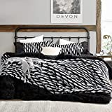 Tiger Lion - Coma Inducer Twin XL Comforter - Zebra Black