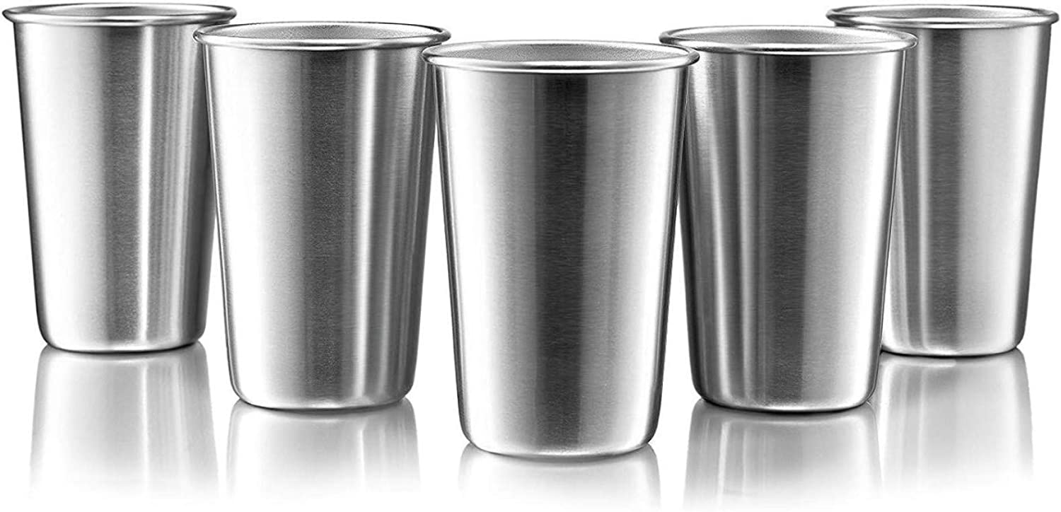 In a popularity 16 Ounce Stainless Steel Pint Tumblers Stackable Cups - Cup Great interest