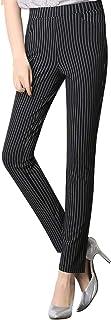 [ピースランド] ストライプ柄 スキニー 綿 ストレッチ 美脚 パンツ コンサバ レディース