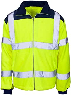 Rimi Hanger Adults Rain Patch High Visibility Fleece Jacket Work Wear Zip Up Warm Coat Top Small-4XLarge