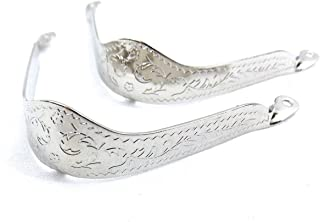 Western Express Silver Engraved Boot Tips WX-2
