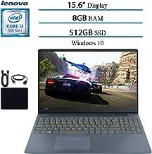 "2019 Lenovo IdeaPad 330S Premium 15.6"" HD Laptop Notebook Computer, Intel 2-Core i3-8130U (up to 3.4GHz), 8GB RAM, 512GB SSD, Wi-Fi, Bluetooth, Webcam, HDMI, Windows 10 S (Blue) w/ Accessories"