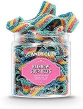 Candy Club, Rainbow Sour Belts, Sweet Gummy Candy Box, Fruit Gummies - 5 oz