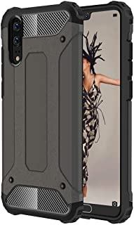 Phone Case Cover For Huawei P20 Full-body Rugged TPU + PC Combination Back Cover Case (Black) Smartphone Shell Cover (Color : Bronze)