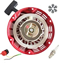 Janrui Pull Start Recoil Starter for r Honda Gx120 Gx140 Gx160 Gx200 Generator Engine Motor Parts + Screws + On Off Stop Switch + Fuel Joint Filter