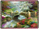 Manual Inspirational Collection Tapestry Throw with Verse, Bridge of Hope by Thomas Kinkade, 60 X 50-Inch