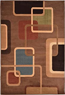 Home Dynamix Catalina Collection Area Rug, 7-Feet 10-Inch by 10-Feet 5-Inch, Brown