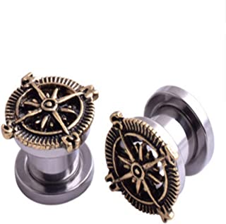 Earring E00333-Earr Compass Generous Jewelry Ear Decorations Girls Gift Lady Woman Ornaments Present Elegant