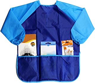 GlobalDeal Long Sleeve Apron Drawing Painting Waterproof Smock Kids Children Craft Art Clothes (Blue)