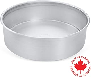 Crown 10 inch Round Cake Pan, 3 inch deep, Professional Quality Baking Pans, Extra Sturdy, Pure Food Grade Aluminum, 10 inch Cake Pan