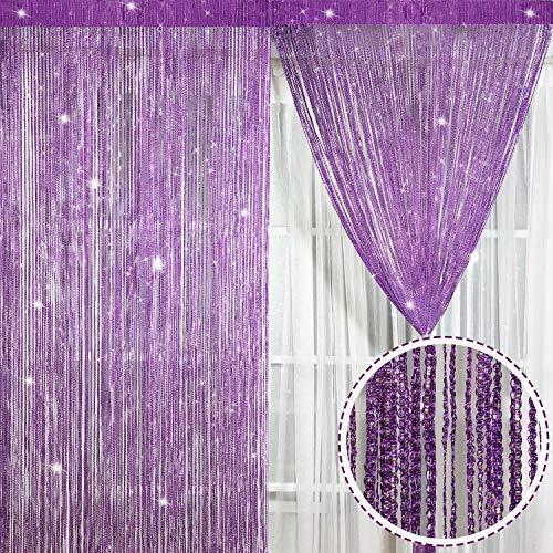 2 Stück Faden Vorhang Panel (Stil F)