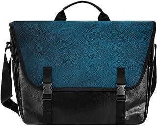 Bolso de lona para hombre y mujer, diseño retro de partículas, color azul