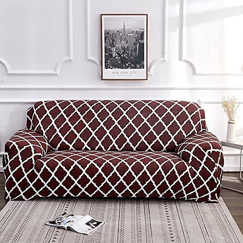 PPOS Fundas de sofá con Estampado de Cuerdas para Sala de Estar Fundas elásticas elásticas para sofá de Esquina seccionales A7 4 Asientos 235-300cm-1pc