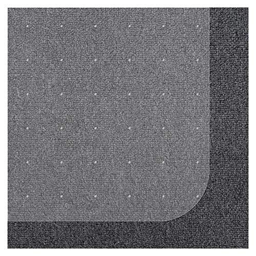 Office Marshal Chair Mat for Carpet with Lip | Eco-Friendly Series Chair Floor Protector | 100% Recycled (PET) Floor Mat for Office or Home Use | Multiple Sizes | Translucent - 36'' x 48''