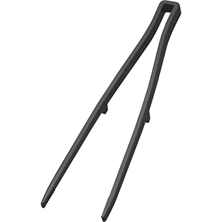 山崎実業(Yamazaki) シリコーン 菜箸 トング ブラック 約W6XD2XH28cm タワー 滑りにくい 熱に強い 5196