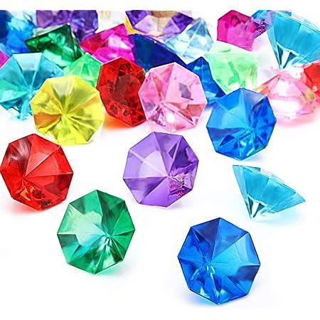100 x bunt Deko Diamanten Acryl Kristalle Steine Basteln Hochzeit Dekoration