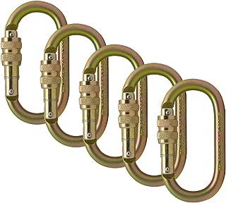 Fusion Climb Ovatti Steel Screw-Lock Oval-Shaped Carabiner 5-Pack