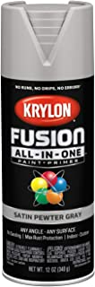 Krylon K02744007 Fusion All-in-One Spray Paint, Pewter Gray