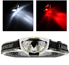 Super Popular 6x LED 1200 Lumens Headlamp Outdoor Fishing Headlight Camping Waterproof Lights Cycling Color Black
