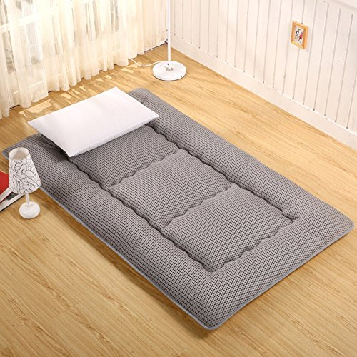 DJQ Japanese Futon Mattress Thickened Tatami Mattress Folding Mattress Folding Futon Sleeping Mat Soft Mattresses Chair for Living Room Bedroom Gray 90x200cm (35x79inch)