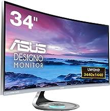 ASUS TeK MX34VQ 34 in. LED Designo Ultra-wide Curved Monitor Display Port HDMI Speaker - Black