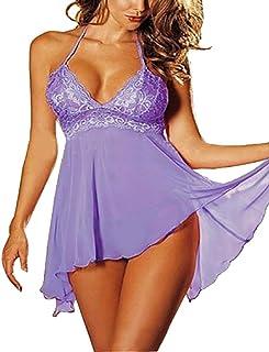Ausexy 2 Pcs Set Super Sexy Women's Lingerie Lace Dress Nightwear Sexy Underwear Temptation Plus Size