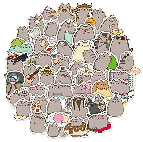 QIANGWEI Stickers 100 stuks Cartoon Leuke kat waterdicht DIY ketel dagboek laptop bagagewagen koelkast