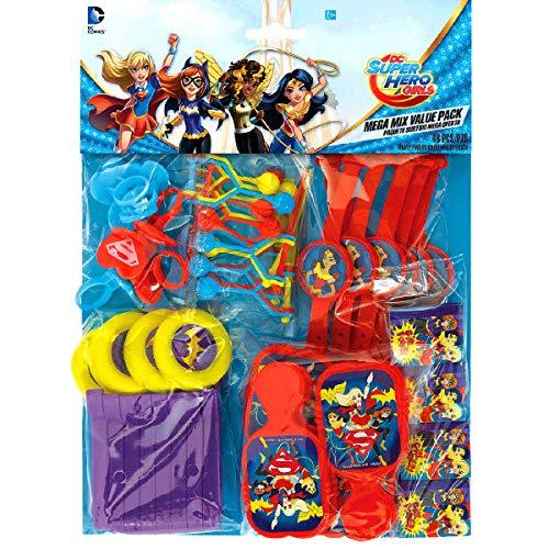 Amscan International–397337DC Super Hero Girls Mega Mix Confezione