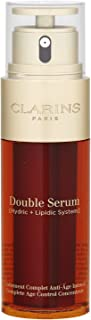 Clarins Double Serum Hydric+Lipidic System Complete Age Control Concentrate, Combats Signs Of Aging, Skin Looks Firmer, Fights Winkles & Pores, Suitable For All Skin Types