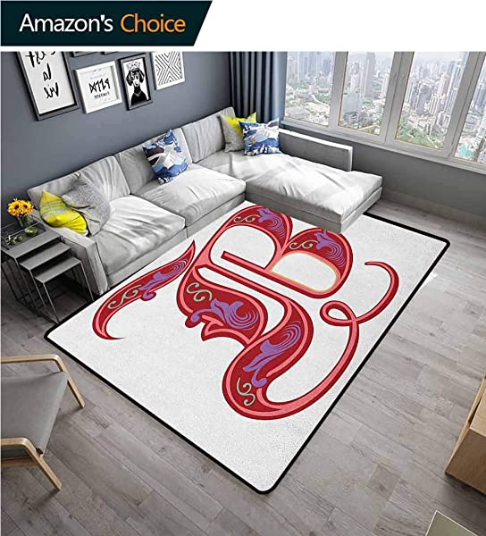 Letter B Solid Door Mat Welcome Colorful Mellow Design Capitalized Symbol B Second Letter Alphabet Abstract Gothic Durable Carpet Area Rug Living Dinning Room Bedroom Rugs And Carpets 3 X 5