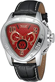 Sweetbless Wristwatches Men Triangle Date/Week/24Hours Auto Mechanical Watch