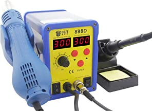 BST-898D 2 in 1 AC 220V 720W LED Displayer Helical Wind Adjustable Temperature Unleaded Hot Air Gun + Solder Station & Soldering Iron New (Blue) Zhaoyy (Color : Blue)